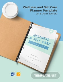 Wellness and Self Care Planner Template