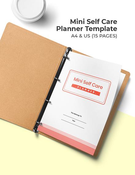 Mini Self Care Planner Template