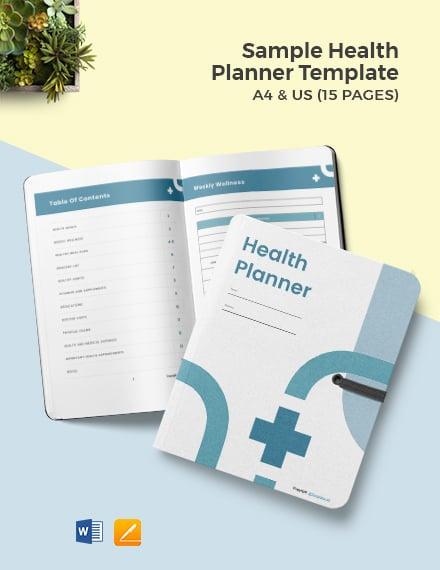 Sample Health Planner Template