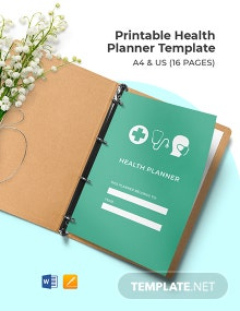 Free Printable Health Planner Template