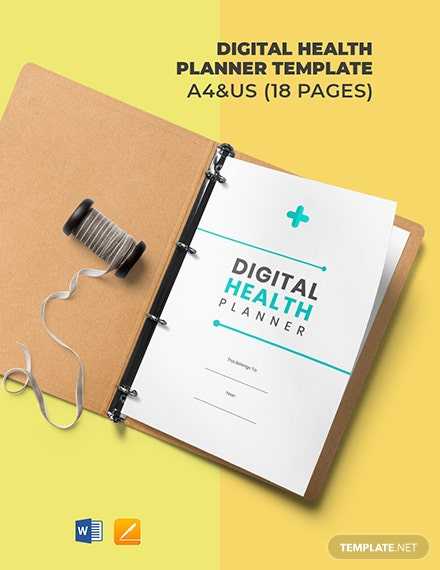 Digital Health Planner Template
