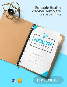 Free Editable Health Planner Template