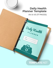 Daily Health Planner Template
