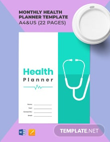 Monthly Health Planner Template