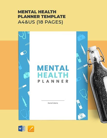 Mental Health Planner Template