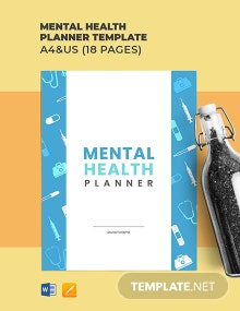 Mental Health Planner Template