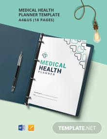 Medical Health Planner Template