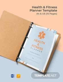 Health & Fitness Planner Template