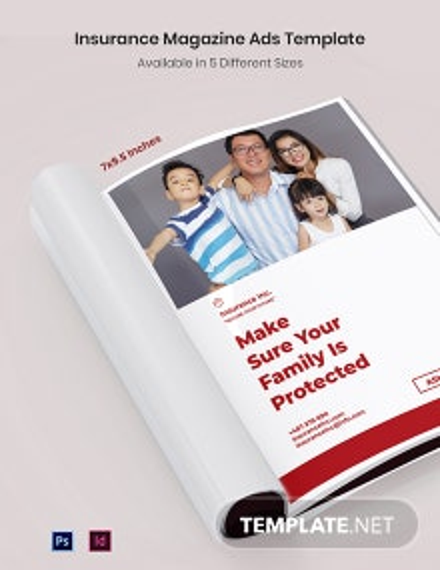 Free Insurance Magazine Ads Template