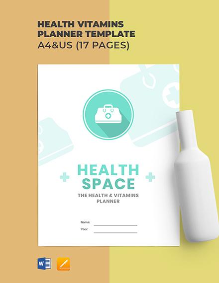 Health Vitamins Planner Template