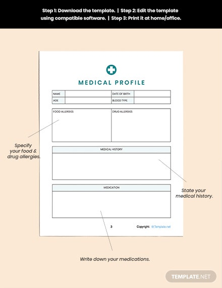Printable Medical Planner Example