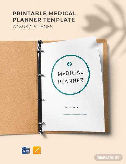 Printable Medical Planner Template