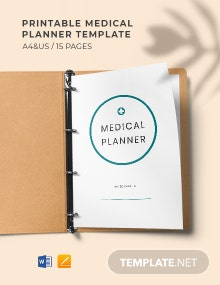 Free Printable Medical Planner Template