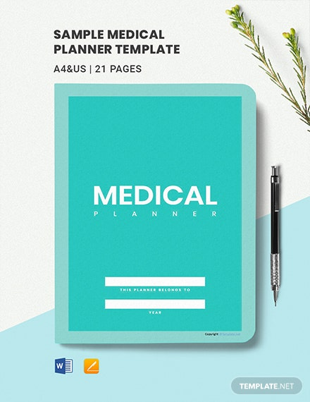 Sample Medical Planner Template