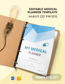 Free Editable Medical Planner Template