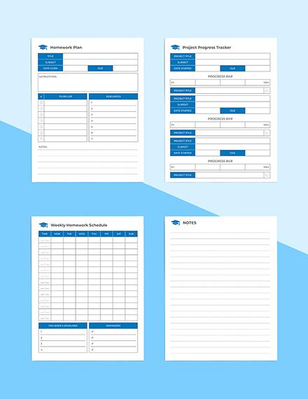 School Homework Planner Download