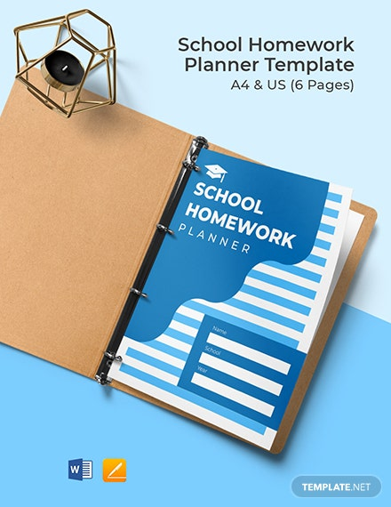 School Homework Planner Template