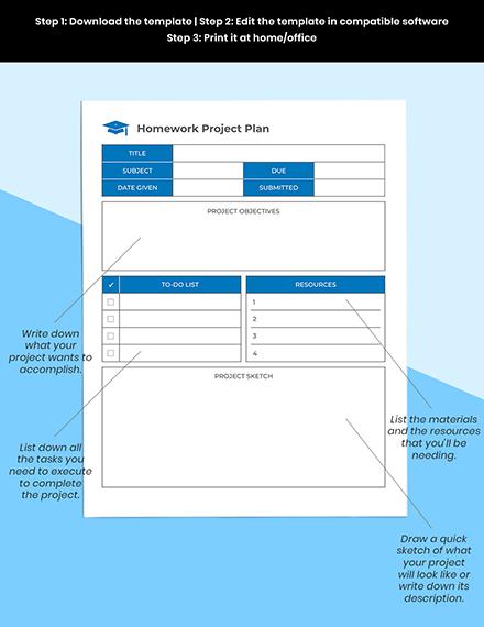 School Homework Planner Printable
