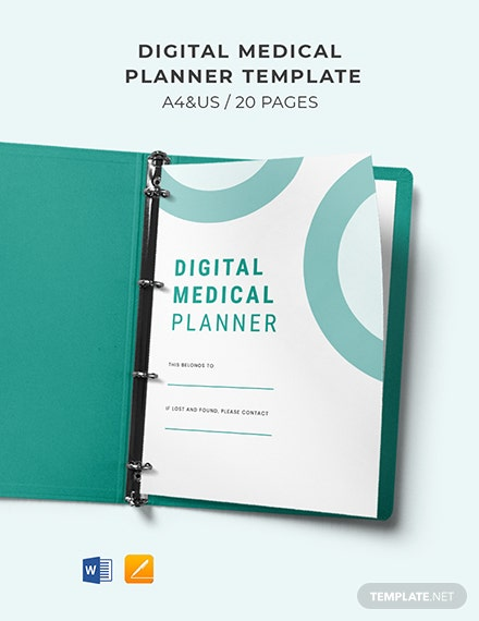 Digital Medical Planner Template