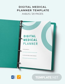 Digital Medical Planner Template