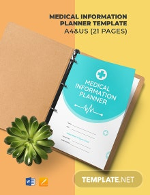 Medical Information Planner Template