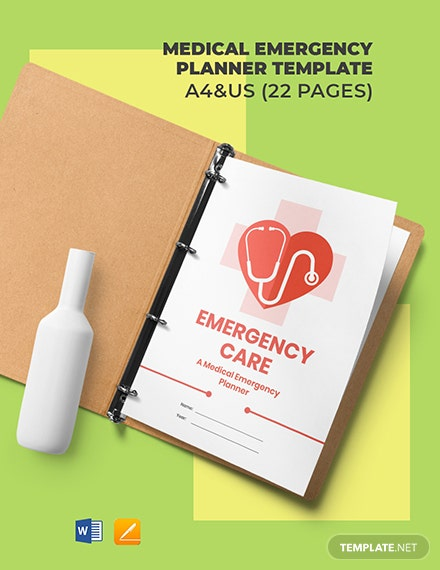 Medical Emergency Planner Template
