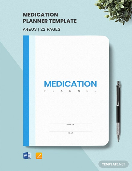 Medication Planner Template