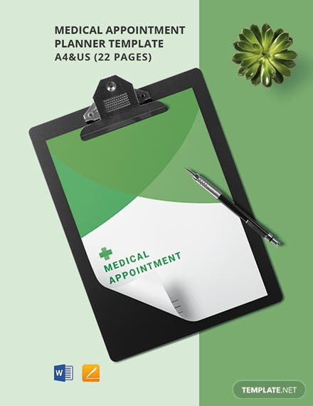 Medical Appointment Planner Template
