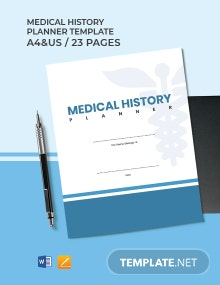 Medical History Planner Template