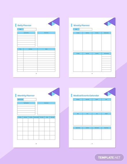 Doctor Appointment Planner Editable Weekly Record