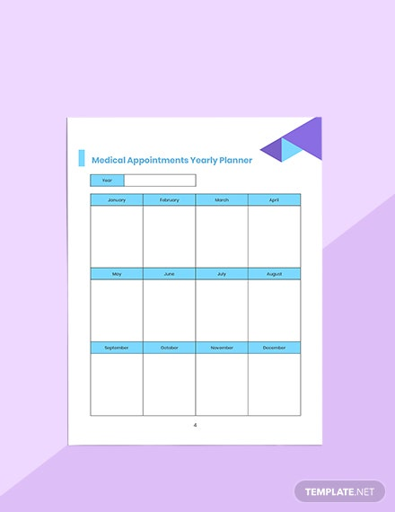 Doctor Appointment Planner Editable