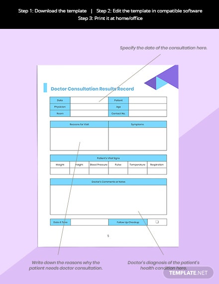 Doctor Appointment Planner Format Consultation Record