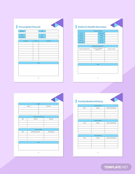 Doctor Appointment Planner Printable Prescription Record