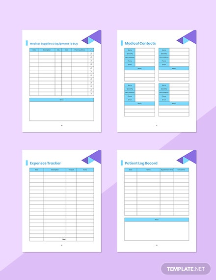 Doctor Appointment Planner Sample Medical Contact