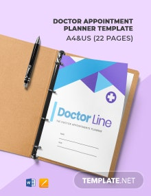 Doctor Appointment Planner Template
