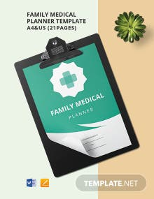 Family Medical Planner Template