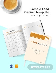 Free Sample Food Planner Template