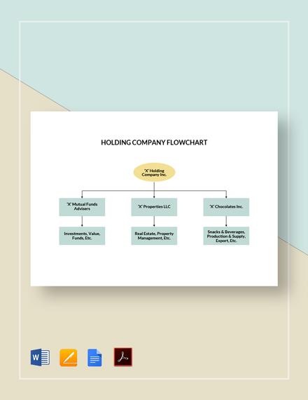 Holding Company Flowchart