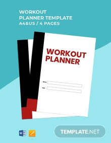 Free Editable Workout Planner Template