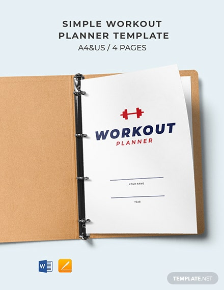 Free Simple Workout Planner Template
