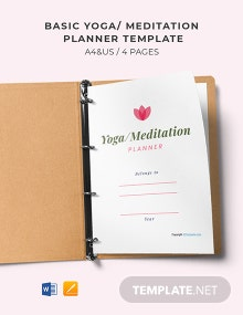 Free Basic Yoga Meditation Planner Template