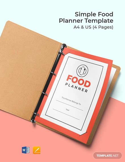 Free Simple Food Planner Template