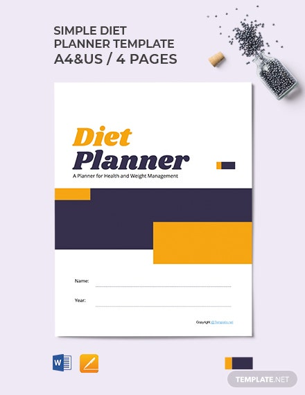 Free Simple Diet Planner Template