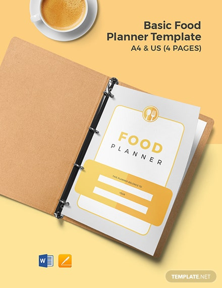 Free Basic Food Planner Template