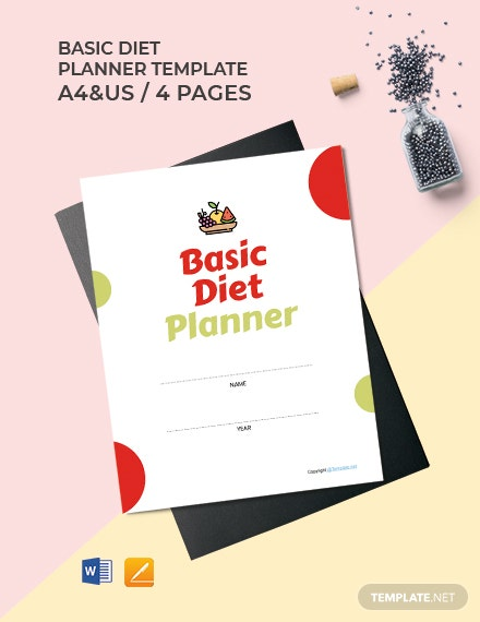 Free Basic Diet Planner Template