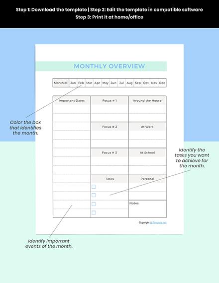 Sample Simple Digital Planner