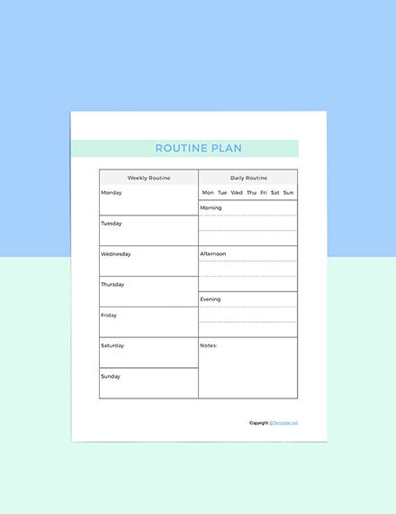 Simple Digital Planner template
