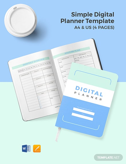 Free Simple Digital Planner Template