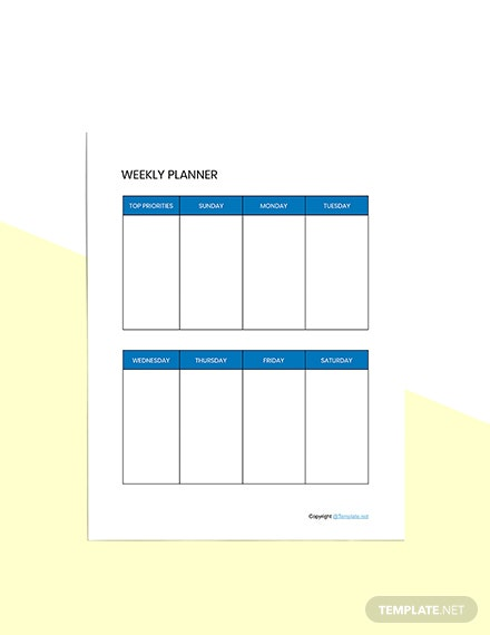 Basic Digital Planner Template sample