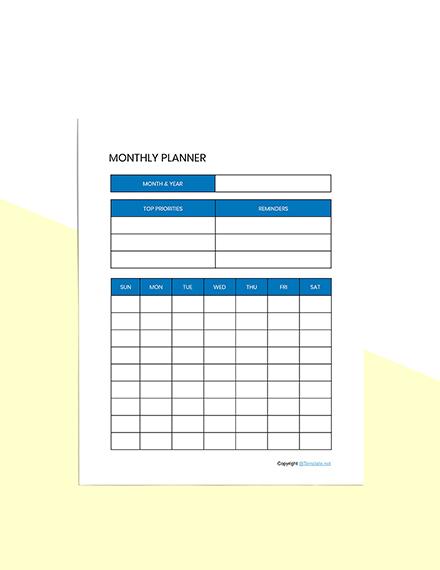 Basic Digital Planner Template download